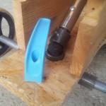 detail riadania - kardan a ucho z rozbitého džbánu